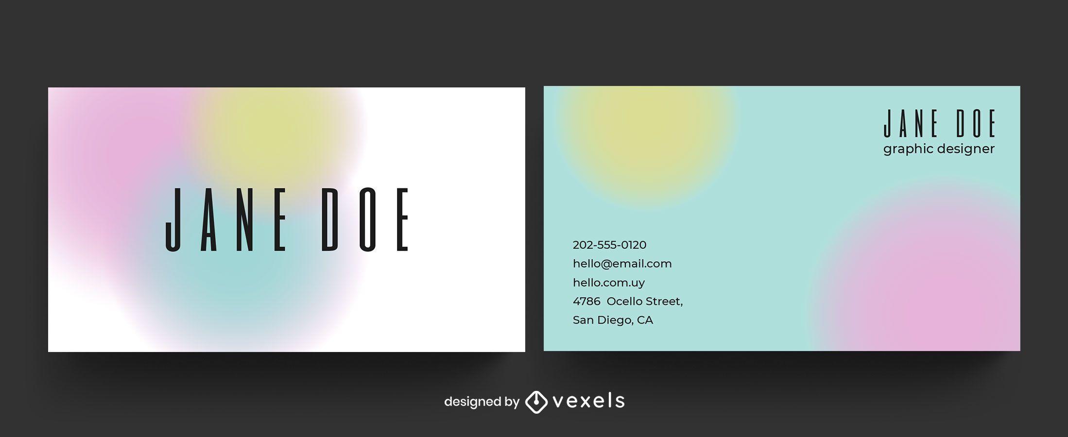 Modelo de formas gradientes de cartão de visita
