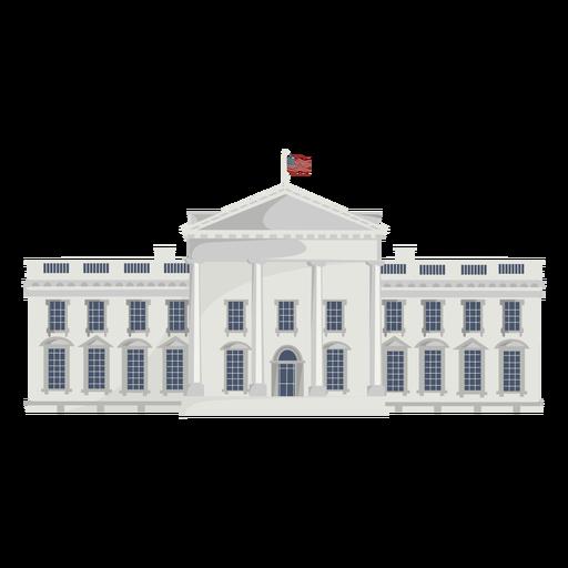 White house american landmark semi flat