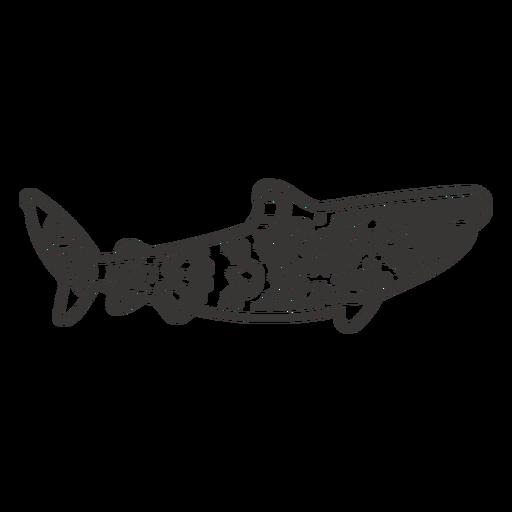 Shark side mandala cut out