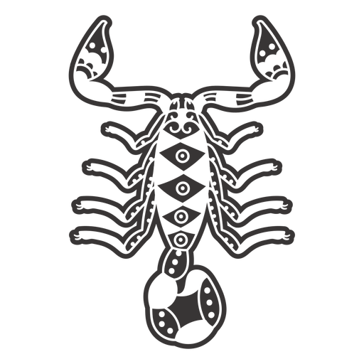 Scorpion from top mandala cut out