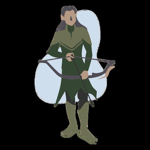 Arquero elfo de pelo largo