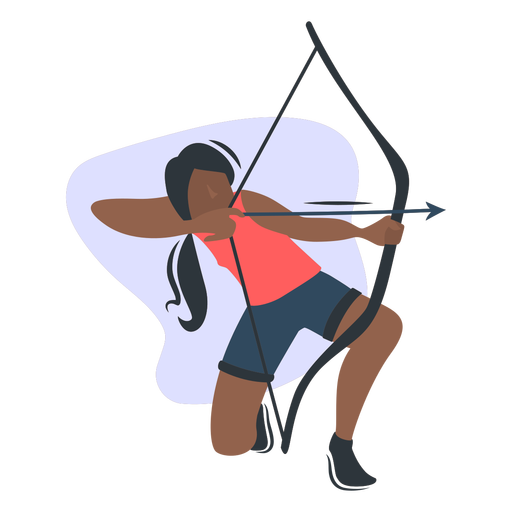 Sport girl archer character