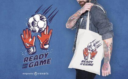 Soccer sport game tote bag design
