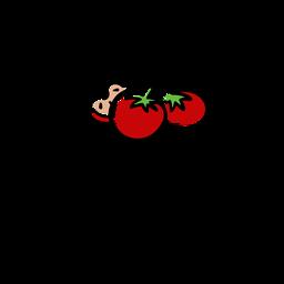 Insignia de fruta de tomates