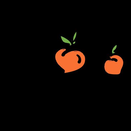 Peaches fruit badge