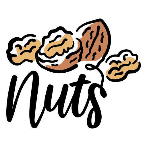 Nuts lettering badge
