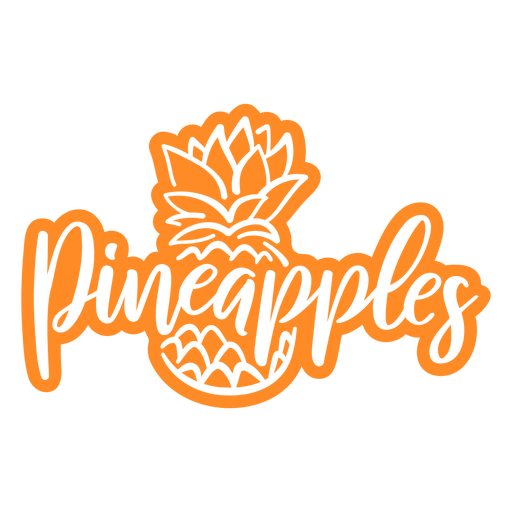 Pineapples fruit cut out badge
