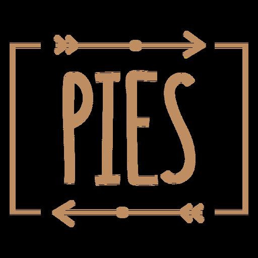 Pies basic label stroke