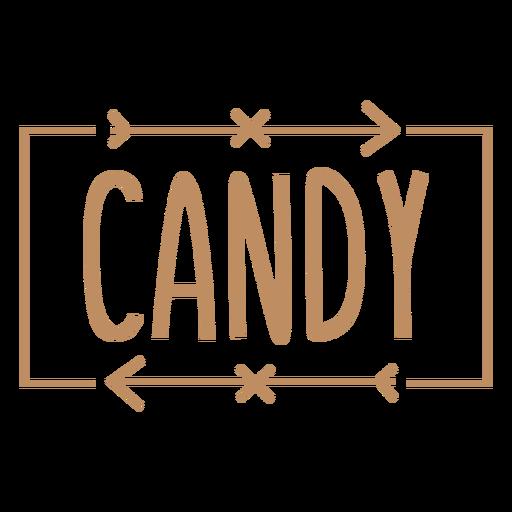 Candy text hand written label stroke