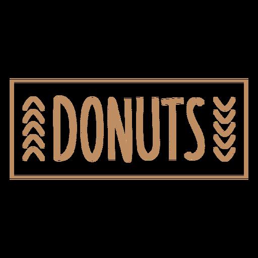 Donuts basic label stroke