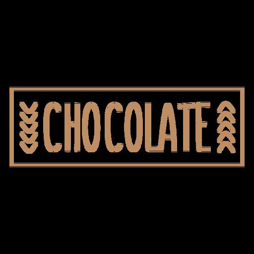 Chocolate simple label stroke