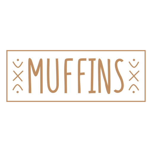 Muffins simple label stroke