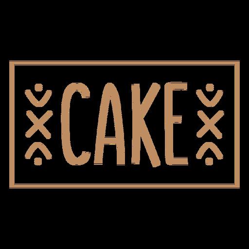 Cake text hand written label stroke
