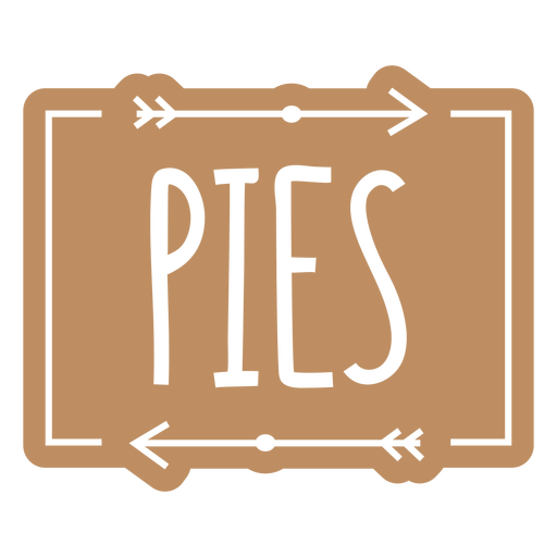 Pies text hand written label cut out