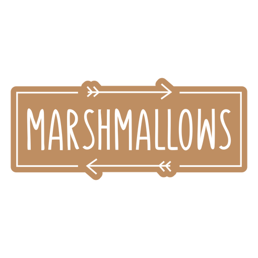 Marshmallows label cut out