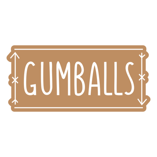 Gumballs label cut out