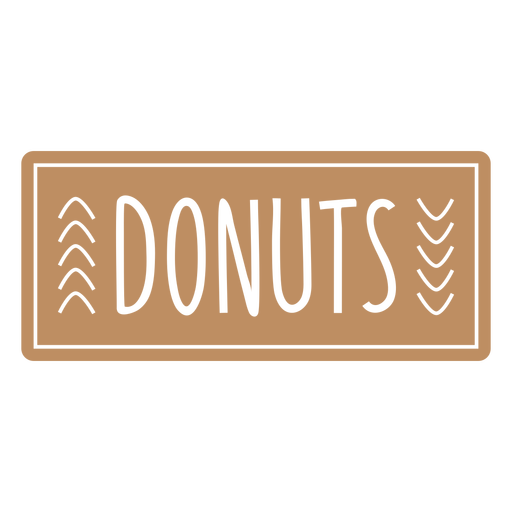 Donuts text hand written label cut out