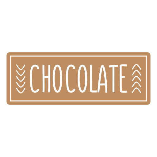 Chocolate label cut out