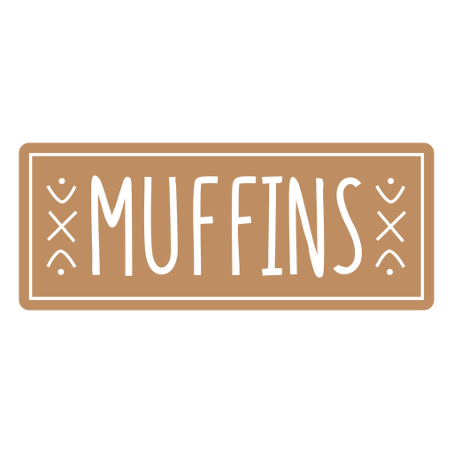 Muffins label cut out