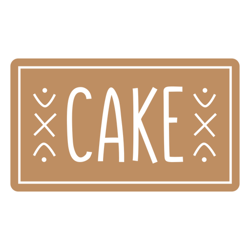 Cake label cut out