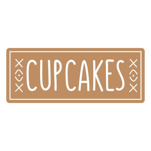 Cupcakes label cut out