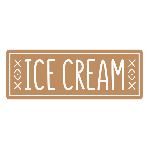 Ice cream label cut out