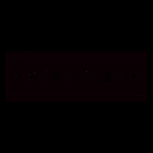 Popsicles text label cut out