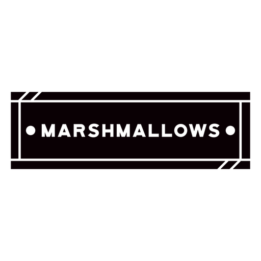 Marshmallow text label cut out