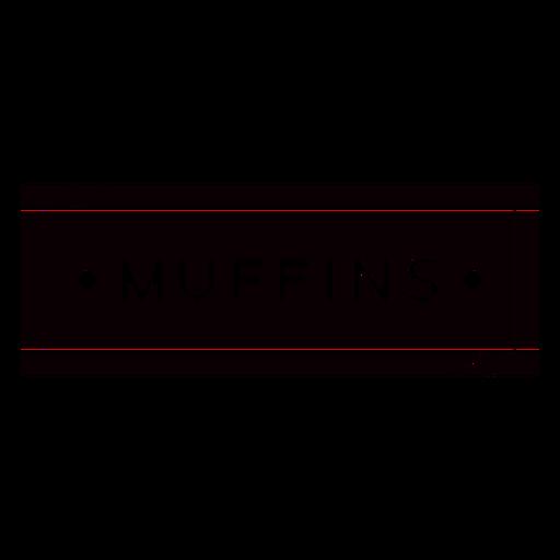 Black muffins label cut out