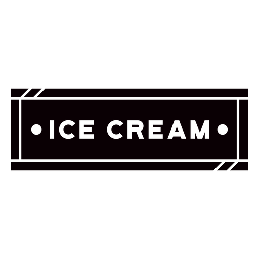 Black ice cream label cut out