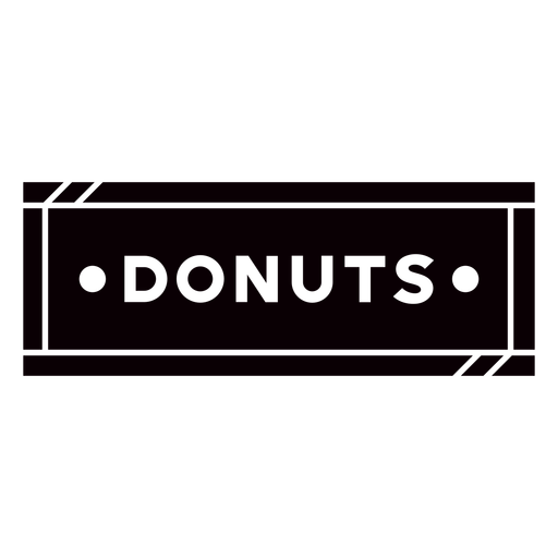 Donuts black label cut out