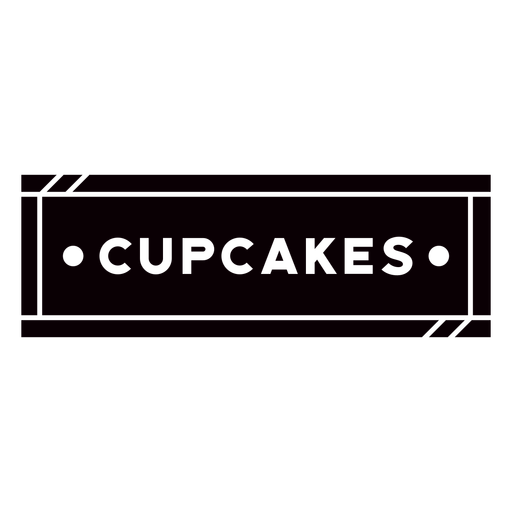 Cupcakes text label cut out