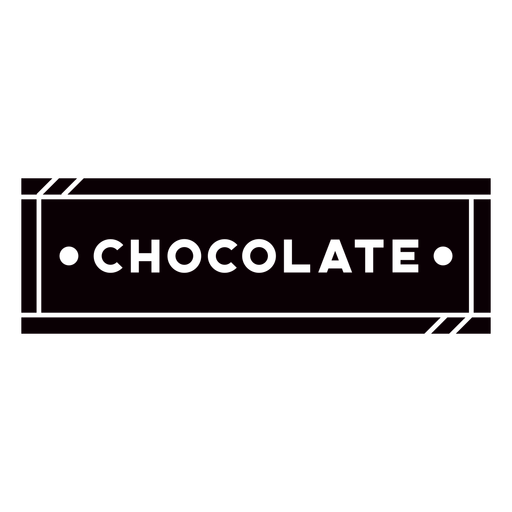 Chocolate text label cut out