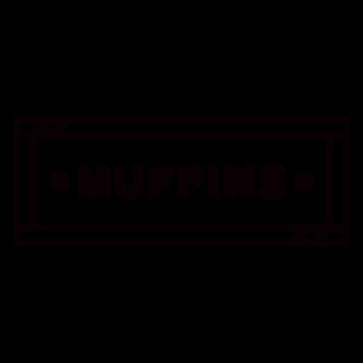 Black & white muffins label stroke