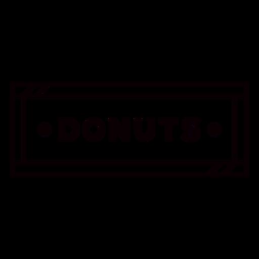 Black & white donuts label stroke