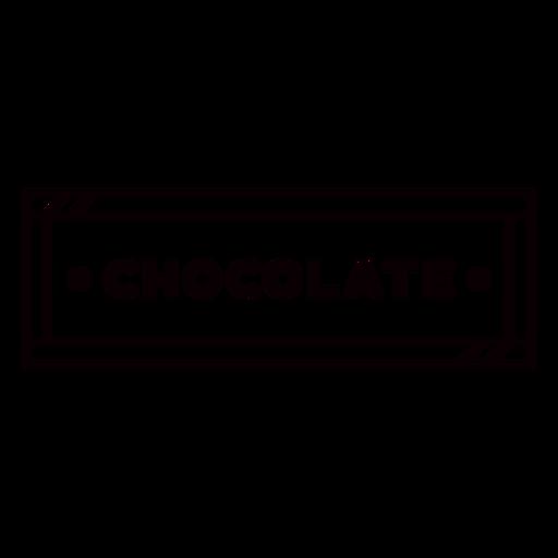 Chocolate label stroke
