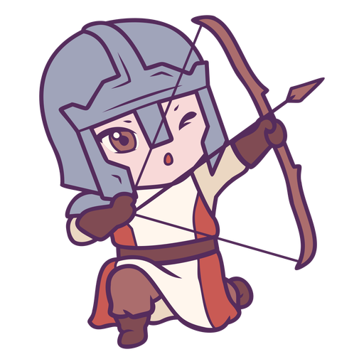 Chibi knight archer character