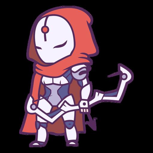 Chibi robot archer character