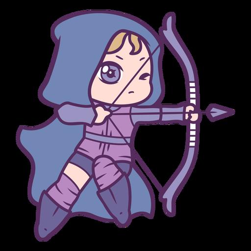 Chibi archer girl character