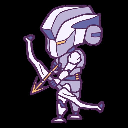 Personagens de Chibi com arco e flecha - 9