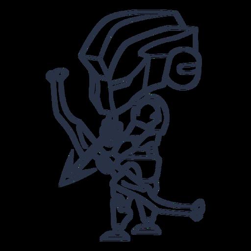 Chibi robot machine archer stroke