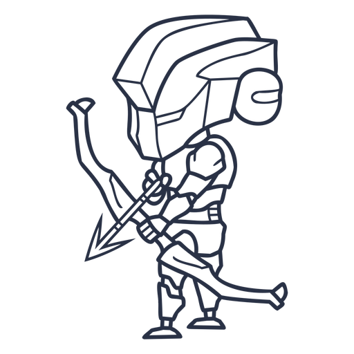Personajes de tiro con arco Chibi - 12