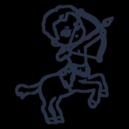 Chibi centaur character stroke