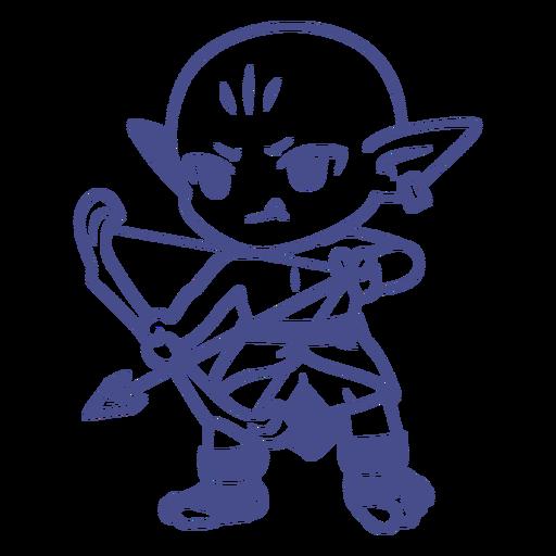 Chibi orc creature archer