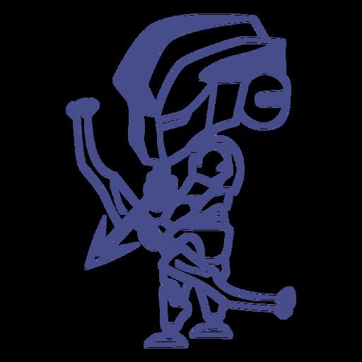 Chibi robot bow and arrow