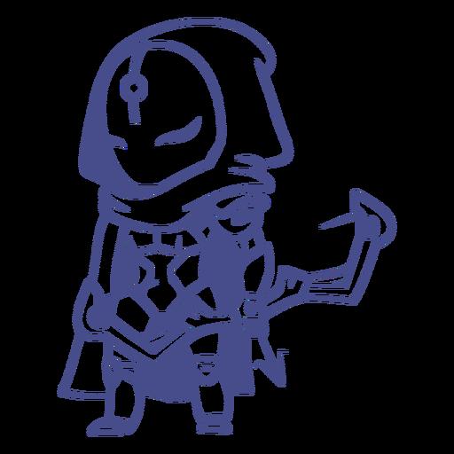Cute robot archer character