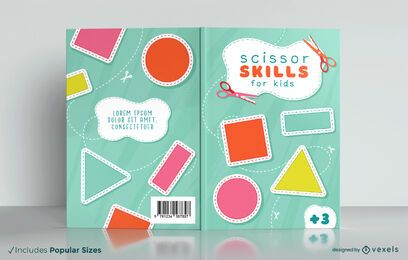 Cutting book for kids cover design
