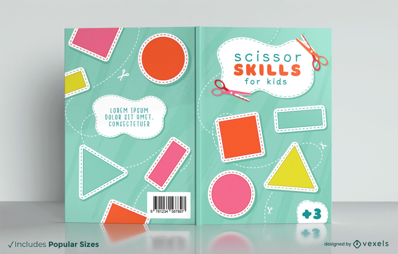 Libro de corte para diseño de portada infantil.