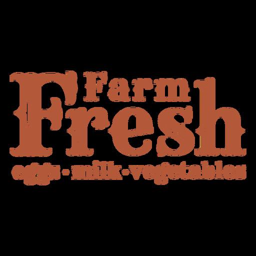 Farm fresh sign filled stroke