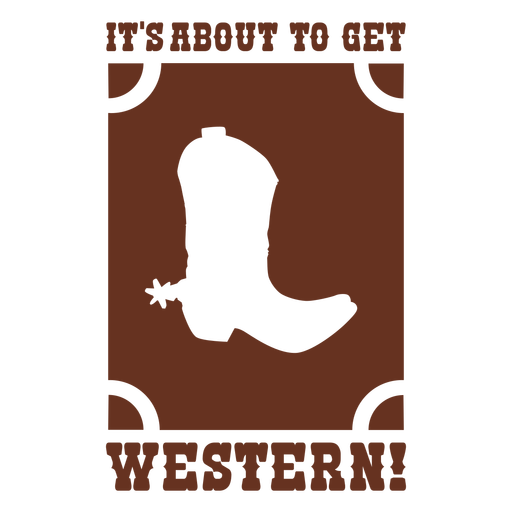 Its about to get western cut out